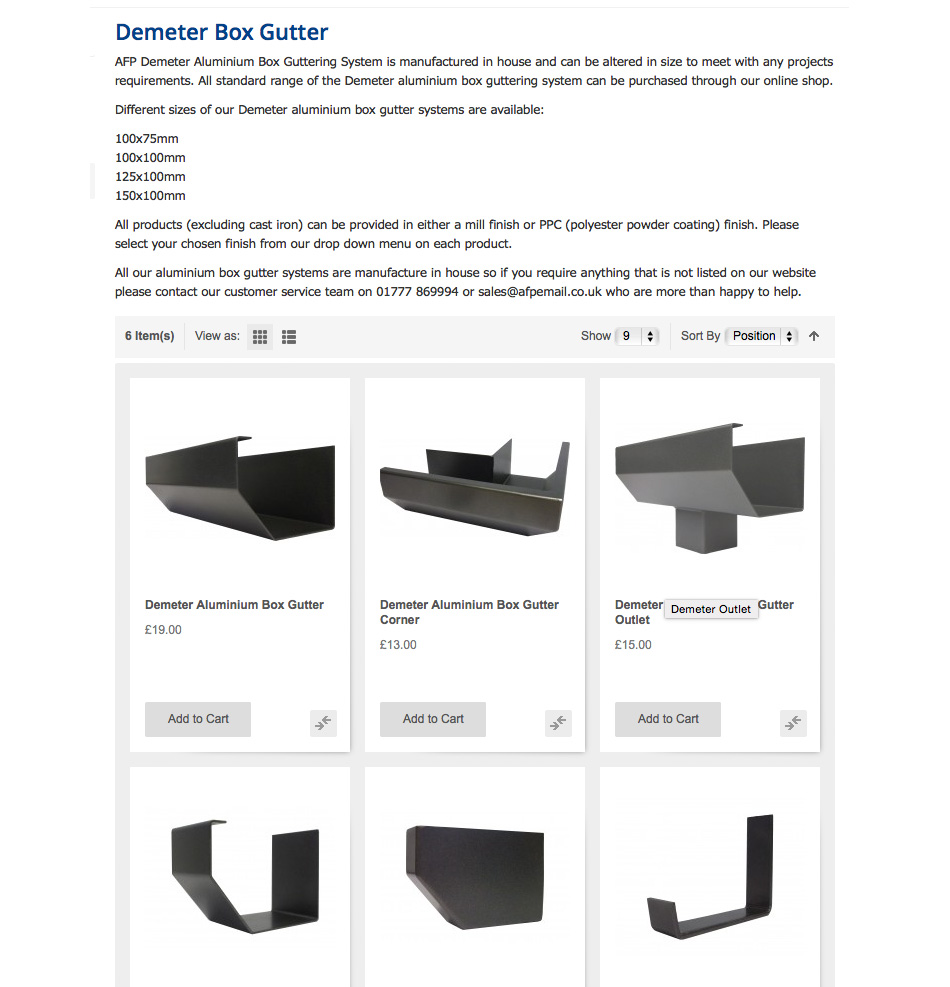 MaterialSpecificationAluminiumBoxGuttering-Demeter