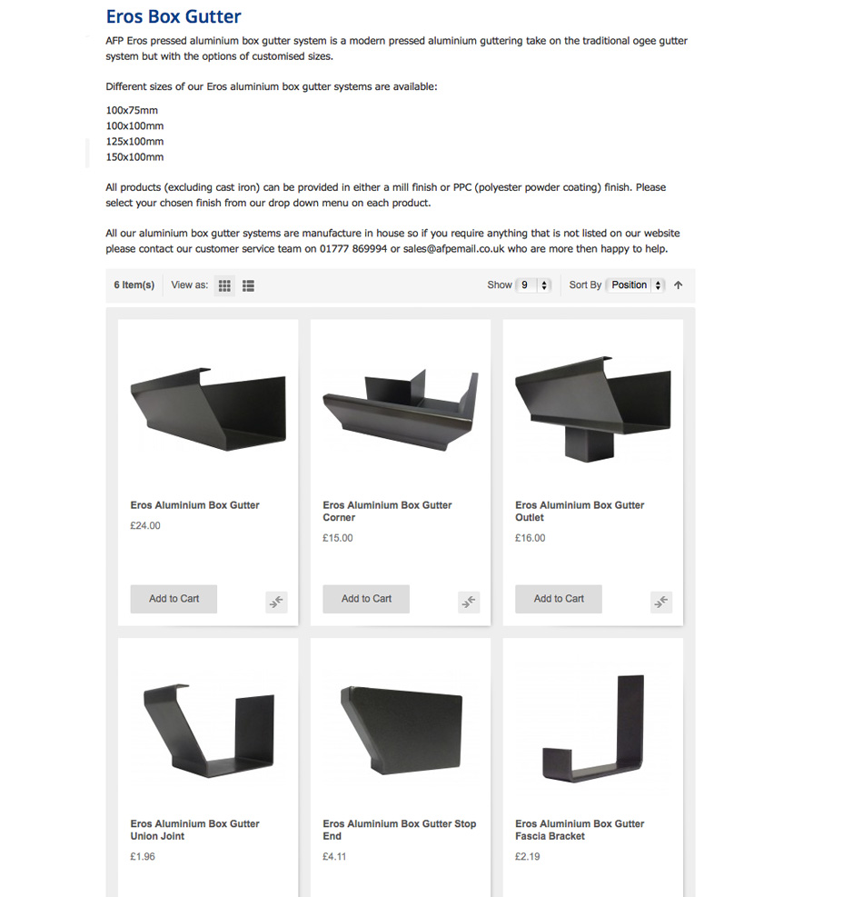MaterialSpecificationAluminiumBoxGuttering-Eros