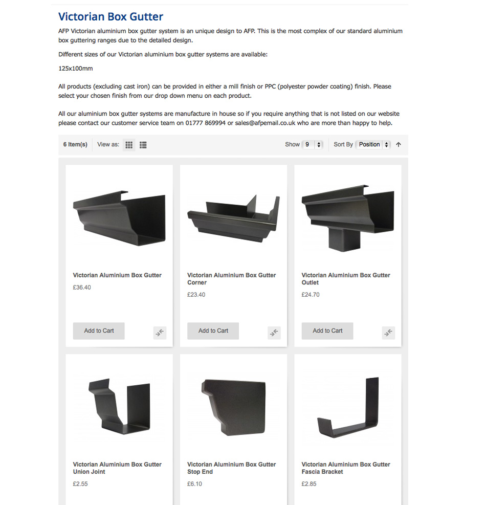 MaterialSpecificationAluminiumBoxGuttering-Victorian