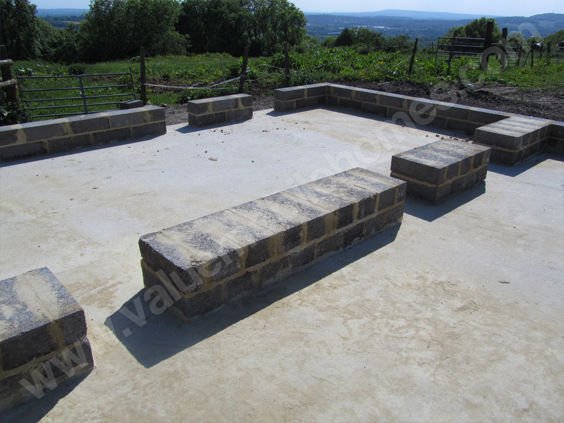 Mobile home specification ground works and foundations for Slab built homes