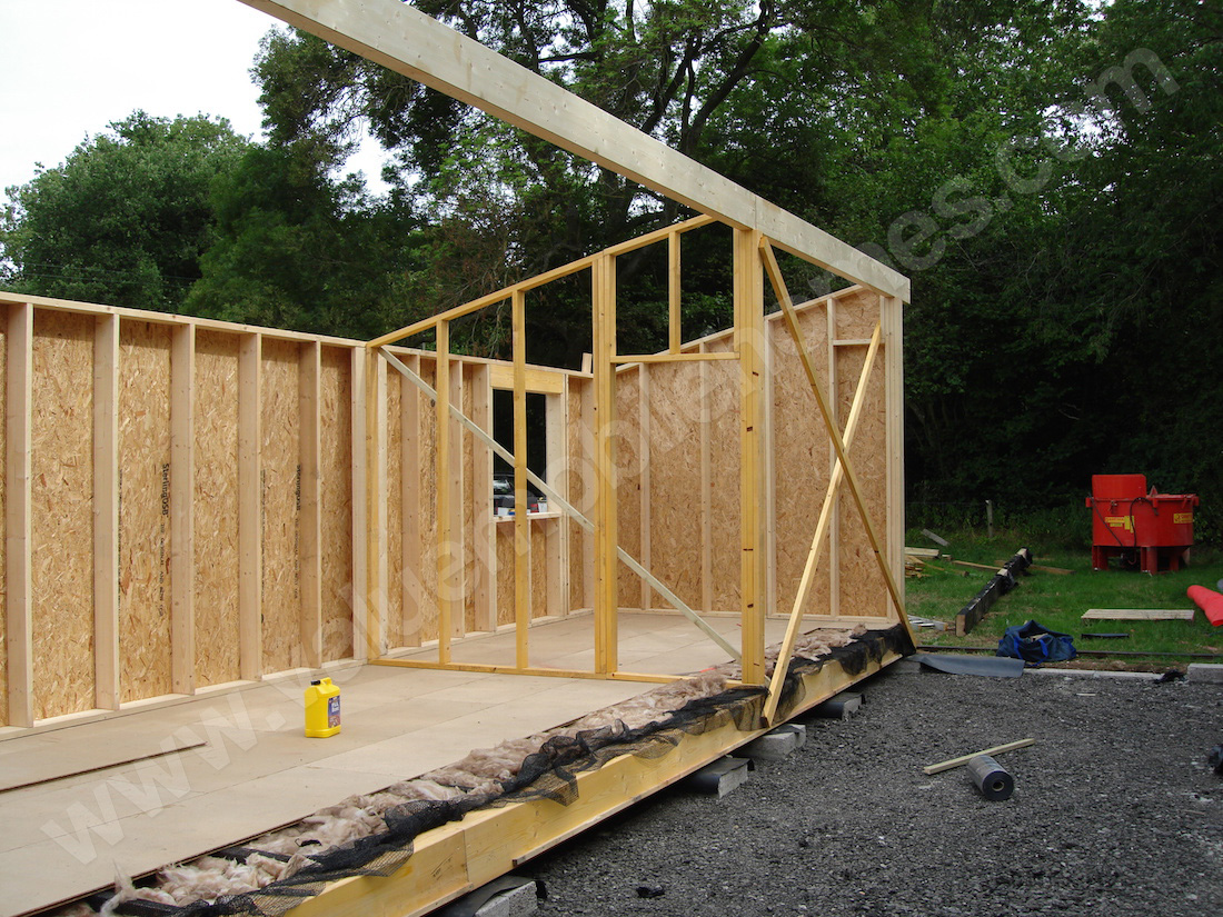 this timber frame speciation is substantially greater than the general bs3632 requirements for residential park homes our specification used the same - Mobile Home Frame