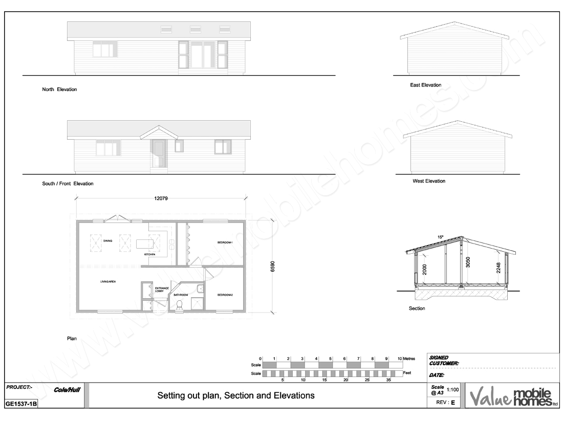 NEWFOREST-40x22FT-MOBILEHOME-LOG-CABIN-FLOORPLAN