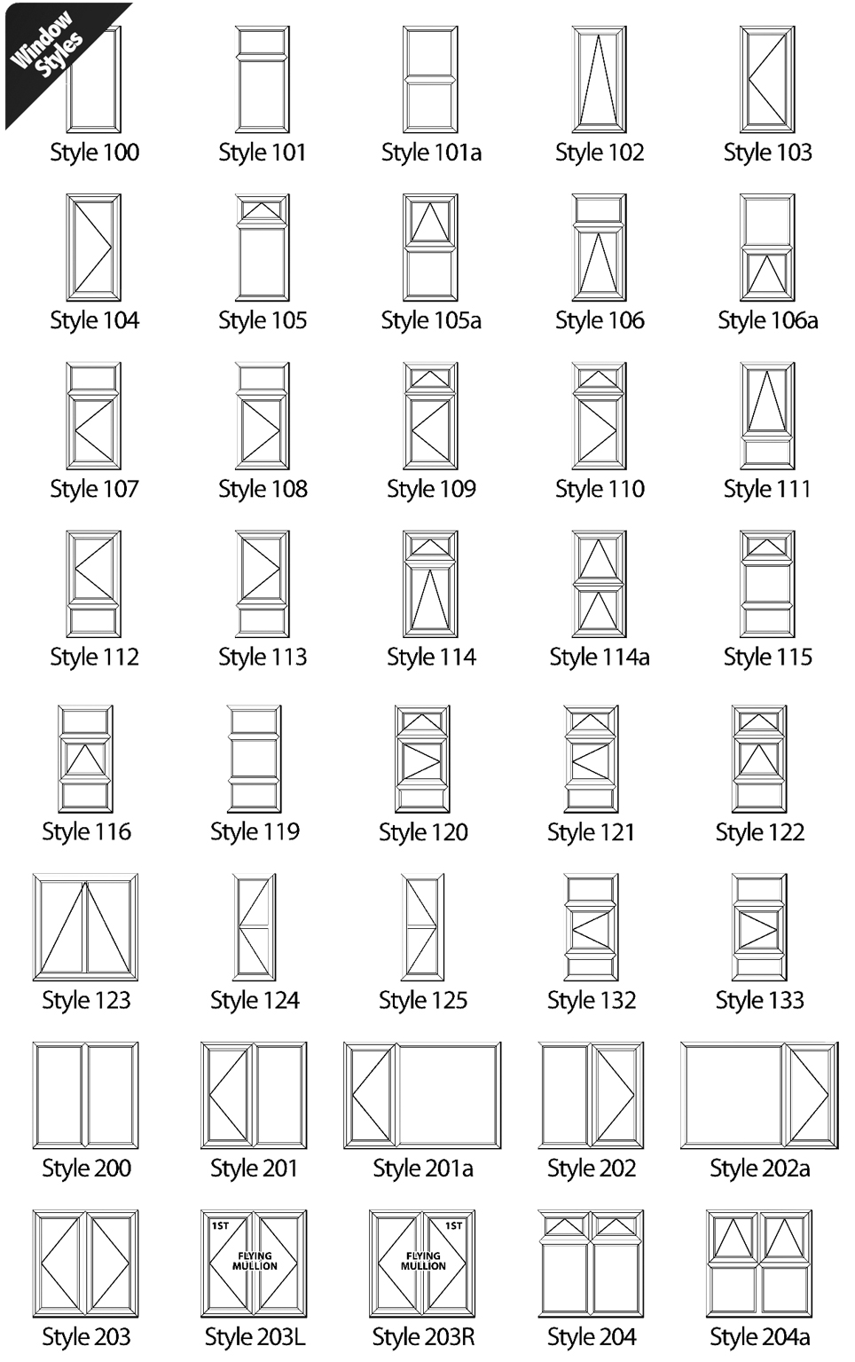 Window opening styles home design for Types of window styles