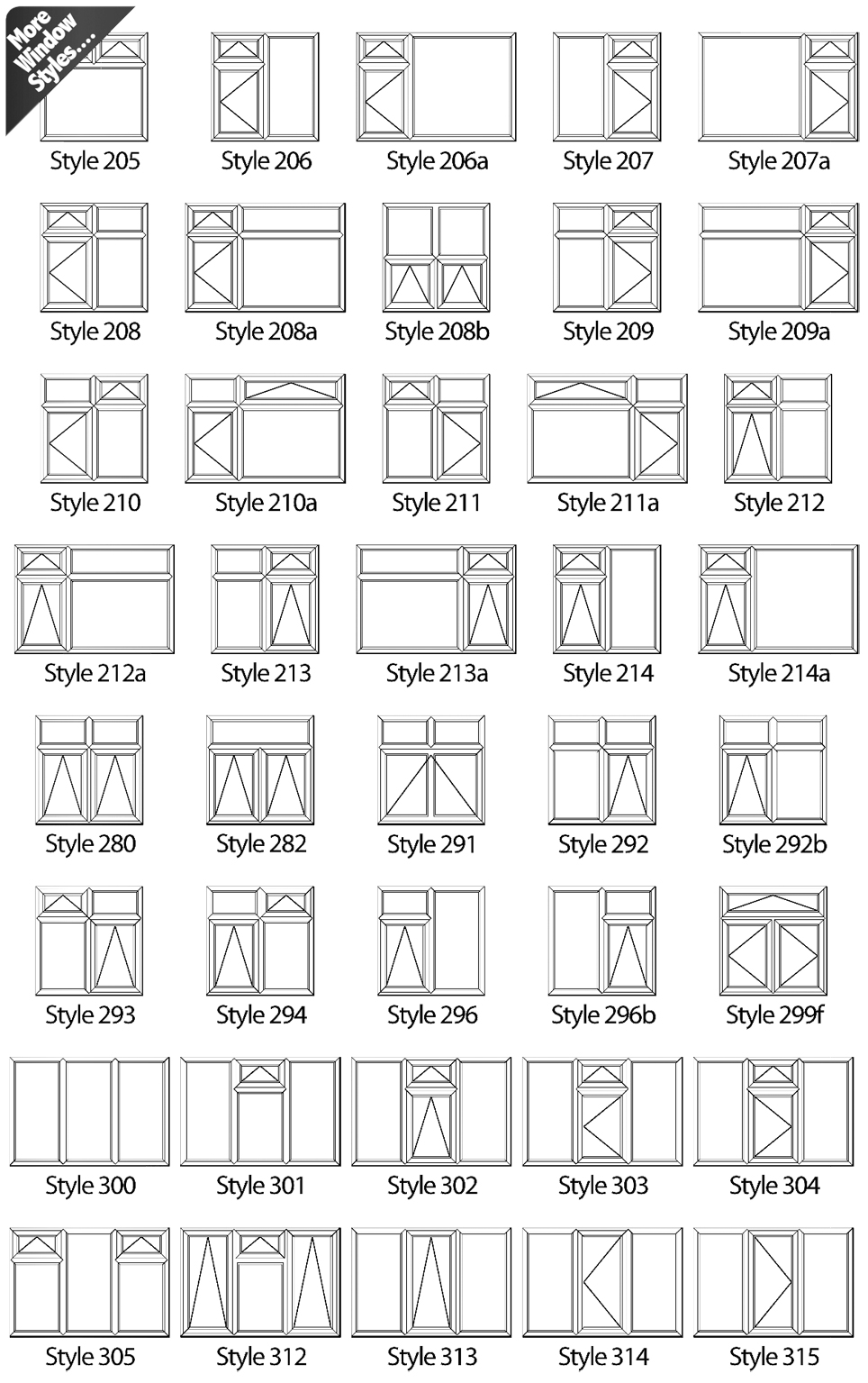 Images Below Show The Variety Of Window Styles Available Featuring Diffe Opening Types