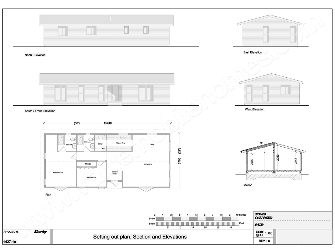 YEOVIL-MOBILE-HOME-45x22FT-PLAN
