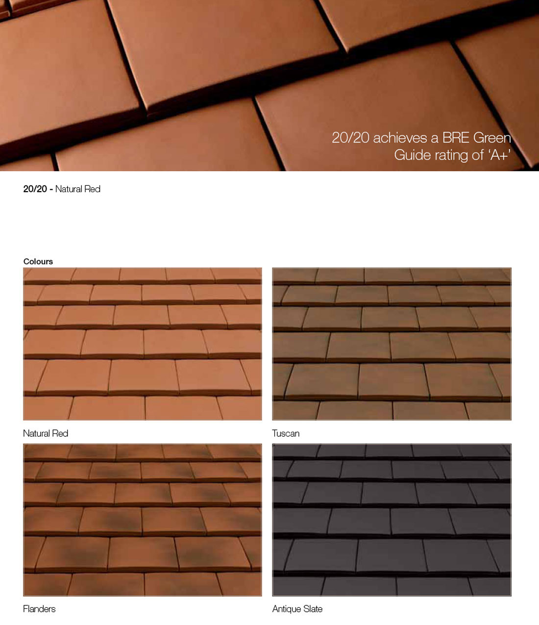 Material Specification Roof Tiles Sandtoft 20 20