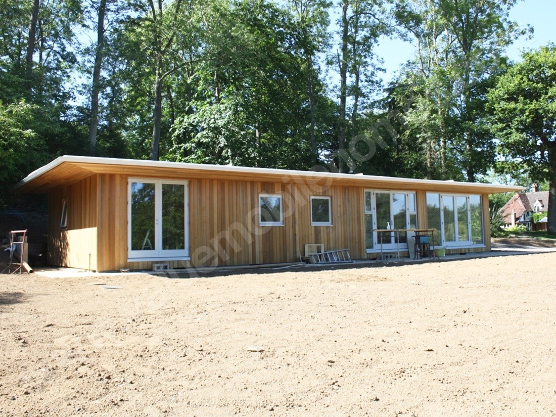 mobile home brighton cedar clad flat roof lodge value mobile homes